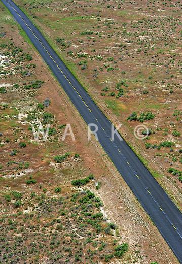 fresh asphalt on rural road