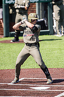 Vanderbilt Commodores second baseman Tate Kolwyck (6) at bat against the South Carolina Gamecocks at Hawkins Field in Nashville, Tennessee, on March 21, 2021. The Gamecocks won 6-5. (Danny Parker/Four Seam Images)