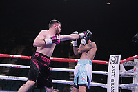 Boxers Bakhram Murtazaliev, Russia and Jorge Fortea, Spain, fight during their IBF Super Welterweight Title eliminator bout at the MGM Grand Garden on November 2, 2019 in Las Vegas, Nevada. Murtazaliev won a unanimous decision  after 12 rounds.  Referee was Jay Nady. (Photo John Gurzinski/lasvegasphotography.com)