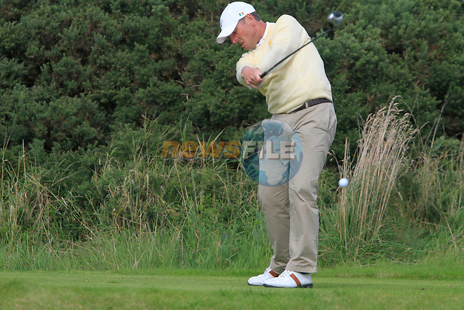 David Higgins tees off on the 14th tee during Day 3 of the 100th Irish PGA championship at Seapoint Golf Club, Co Louth...Picture Eoin Clarke/www.golffile.ie.