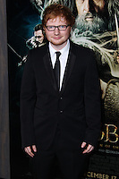 """HOLLYWOOD, CA - DECEMBER 02: Ed Sheeran arriving at the Los Angeles Premiere Of Warner Bros' """"The Hobbit: The Desolation Of Smaug"""" held at Dolby Theatre on December 2, 2013 in Hollywood, California. (Photo by Xavier Collin/Celebrity Monitor)"""