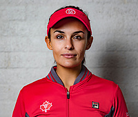 Den Bosch, The Netherlands, Februari 8, 2019,  Maaspoort , FedCup  Netherlands - Canada, Draw, captain Heidi El Tabakh (CAN)<br /> Photo: Tennisimages/Henk Koster