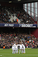 Barclays Premier League, West Ham United (red)V Swansea City Fc (white), Boelyn Ground, 02/02/13<br /> Pictured: The Swans huddle before kick off<br /> Picture by: Ben Wyeth / Athena Picture Agency<br /> info@athena-pictures.com