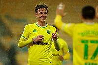6th April 2021; Carrow Road, Norwich, Norfolk, England, English Football League Championship Football, Norwich versus Huddersfield Town; Kieran Dowell of Norwich City points at Emi Buendia for his assist as he scores for 5-0 in the 42nd minute