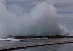 Winter storms create high surf, sending violent waves crashing into the Malecon seawall.