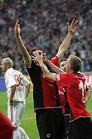 Torjubel Sotirios Kyrgiakos mit Michael Thurk (beide Eintracht Frankfurt) beim 2:1
