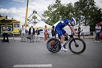 Yves Lampaert (BEL/Deceuninck - Quick-Step) after finishing the TTT<br /> <br /> Stage 2 (TTT): Brussels to Brussels(BEL/28km) <br /> 106th Tour de France 2019 (2.UWT)<br /> <br /> ©kramon