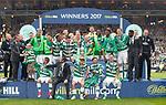 Celtic celebrate winning the Scottish Cup