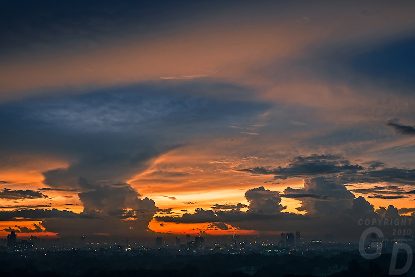Dramatic Monsoon_Storm clouds over Manila, Philippines