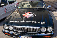 - exhibit of ecological vehicles organized by Lombardy Regional Authority, LGP powered car (liquefied propane gas)..- mostra di veicoli ecologici organizzata dalla Regione Lombardia, automobile alimentata a GPL (gas propano liquido)