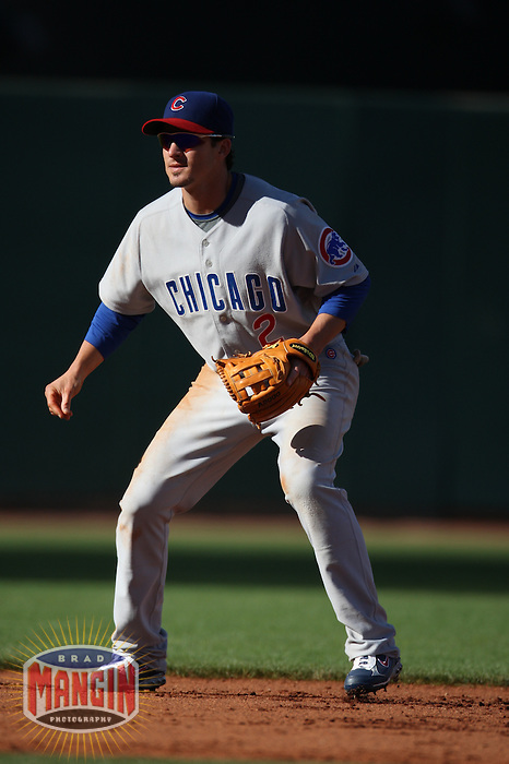 SAN FRANCISCO - JULY 3:  Ryan Theriot of the Chicago Cubs plays defense at shortstop during the game against the San Francisco Giants at AT&T Park in San Francisco, California on July 3, 2008.  The Giants defeated the Cubs 8-3.  Photo by Brad Mangin