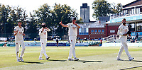 A thumbs up from Nathan Gilchrist of Kent as he leaves the field after beating Worcestershire during Kent CCC vs Worcestershire CCC, LV Insurance County Championship Division 3 Cricket at The Spitfire Ground on 7th September 2021
