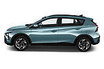 Car Driver side profile view of a 2021 Hyundai Bayon Techno 5 Door SUV Side View