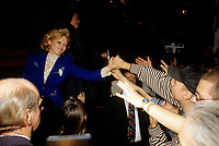 FILE -<br /> Jacques Parizeau<br /> et Lisette Lapointe en 1995.<br /> <br /> <br /> PHOTO  : Pierre Roussel - Agence Quebec Presse