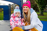 Little Olivia Carey with her mom Gemma enjoying the playground in the Tralee town park on Thursday.