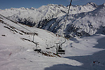 Albona 2 Chairlift at Stuben Ski Area, St Anton, Austria,