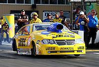 Jul. 19, 2013; Morrison, CO, USA: NHRA pro stock driver Jeg Coughlin Jr during qualifying for the Mile High Nationals at Bandimere Speedway. Mandatory Credit: Mark J. Rebilas-
