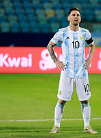 3rd July 2021, Estádio Olímpico Pedro Ludovico stadium, Goiânia, Brazil: Copa America Football tournament, Argentina versus Ecuador;   Lionel Messi of Argentina