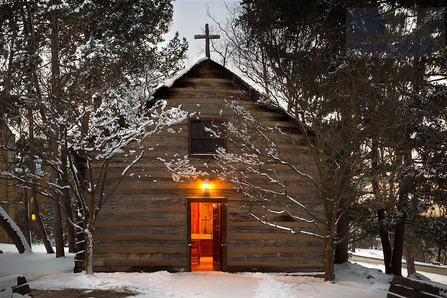 Jan. 22, 2013; Log Chapel..Photo by Matt Cashore/University of Notre Dame