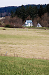 Farm and farmhouse in Crow Valley, on scenic Orcas Island of the San Juan Islands in Washington State.