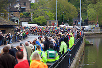 Picture by Shaun Flannery/SWpix.com - 03/05/2015 - Cycling - 2015 Tour de Yorkshire: Stage 3, Wakefield to Leeds - Cycling fans watch as the Peloton races through Newmillerdam.