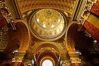Interior of  St Stephen's Basilica, ( Szent Istvan Bazilika ) , Neo Classical building, Budapest, Hungary