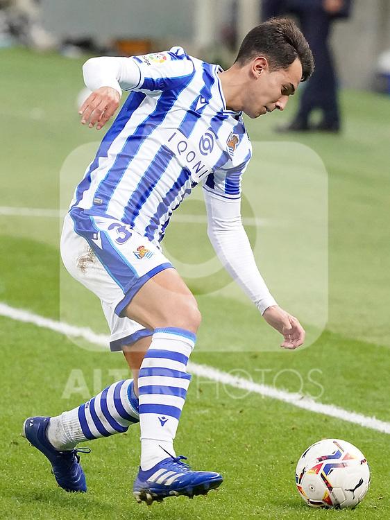 Real Sociedad's Martin Zubimendi during La Liga match. October 3, 2020. (ALTERPHOTOS/Acero)