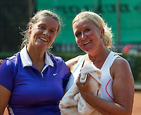 Etten-Leur, The Netherlands, August 27, 2016,  TC Etten, NVK, Marianne Troost-van der Torre (NED) (L) and  Josephine van der Stroom (NED)<br /> Photo: Tennisimages/Henk Koster