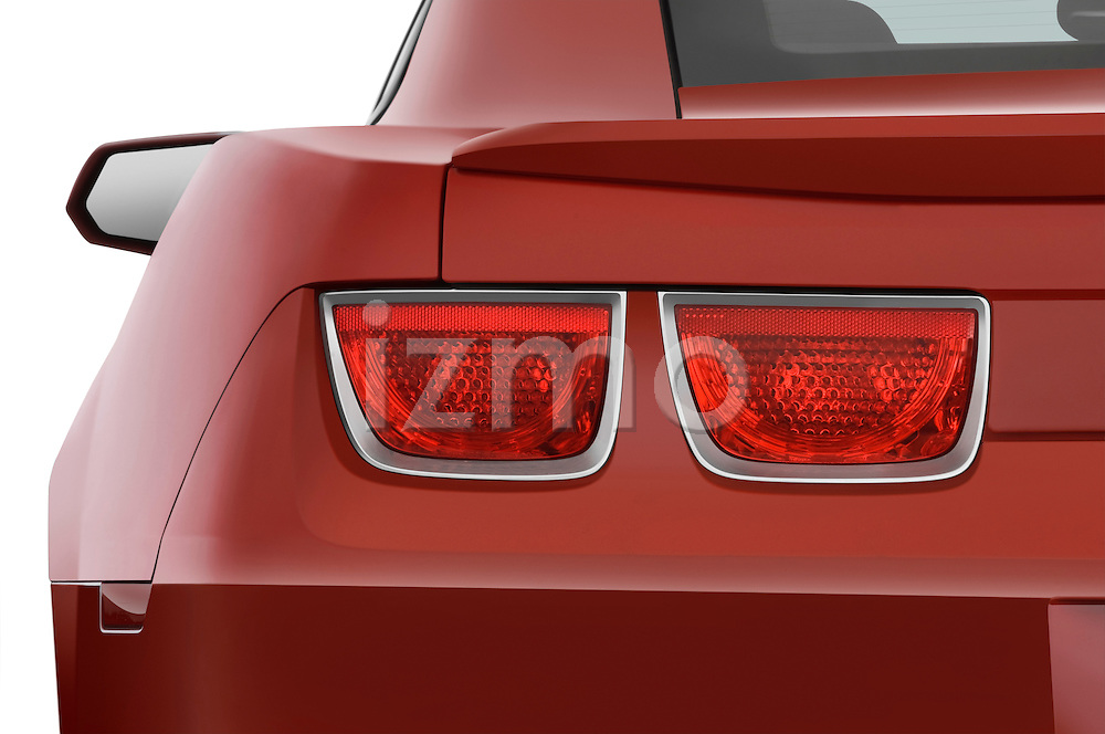 Tail light close up detail view of a 2010 Chevrolet Camaro SS
