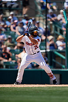 Rochester Red Wings Wilin Rosario (20) bats during an International League game against the Scranton/Wilkes-Barre RailRiders on June 25, 2019 at Frontier Field in Rochester, New York.  Rochester defeated Scranton 10-9.  (Mike Janes/Four Seam Images)