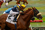 DEL MAR, CA  JULY 24:  #2 United, ridden by Flavien Prat, and #6 Smooth Like Strait, ridden by Umberto Rispoli, in the stretch of the Eddie Read Stakes (Grade ll) on July 24, 2021, at Del Mar Thoroughbred Club in Del Mar, CA.  (Photo by Casey Phillips/Eclipse lSportswire/CSM)