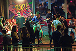 """© Joel Goodman - 07973 332324 . 16/12/2017. Manchester, UK. People dance and socialise at a venue on Deansgate Locks . Revellers out in Manchester City Centre overnight during """" Mad Friday """" , named for historically being one of the busiest nights of the year for the emergency services in the UK . Photo credit : Joel Goodman"""