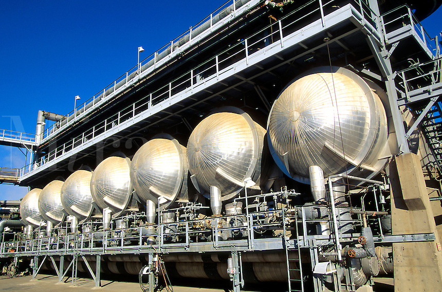 A petrochemical refinery dryer section.