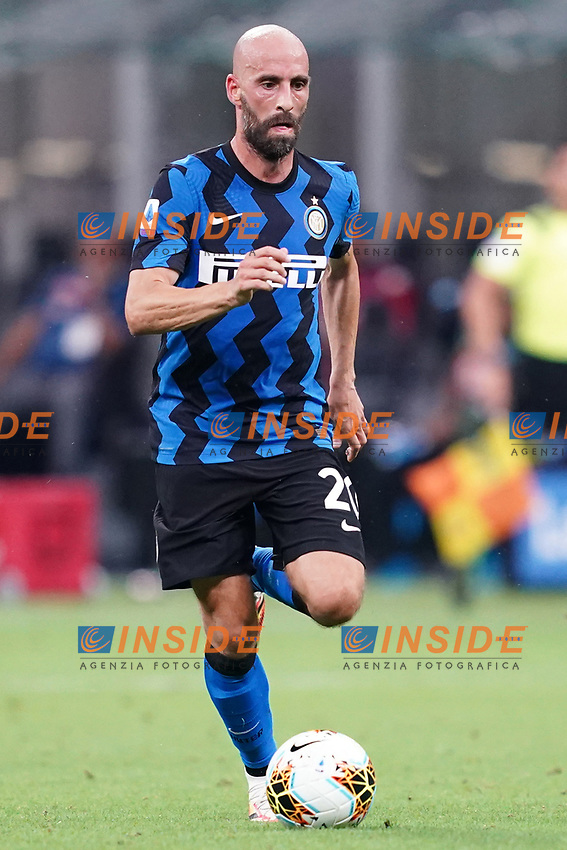 Borja Valero of FC Internazionale in action during the Serie A football match between FC Internazionale and SSC Napoli at San Siro stadium in Milano (Italy), July 28th, 2020. Play resumes behind closed doors following the outbreak of the coronavirus disease. Photo Marco Canoniero / Insidefoto