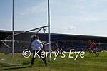 Tom O'Sullivan, Kerry, in action against Mattie Taylor, Cork, during the Munster GAA Football Senior Championship Final match between Kerry and Cork at Fitzgerald Stadium in Killarney on Sunday.