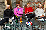 John Ferguson, Jason Mullins, Gerard McCarthy and David O'Sullivan enjoying the evening in Benners Hotel on Thursday.