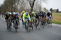 "The peloton is forced to one side by very strong winds up to 80km/h. Riders are forced to lean into it just to keep ""straight""<br /> <br /> 77th Gent-Wevelgem 2015"