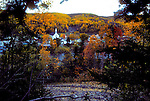 Village of St-Reni Goupil, Gulf of St Lawrence, Gaspe Peninsula, Quebec, Canada