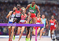 August 05, 2012..Roba Gari and Ezekiel Kemboi compete in Men's 3000m Steeplechase at the Olympic Stadium on day nine of 2012 Olympic Games in London, United Kingdom.
