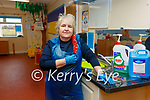 Staff at the IRD Waterville Early Years Centre performing a deep clean on their facility on Wednesday pictured here Marian O'Neill.