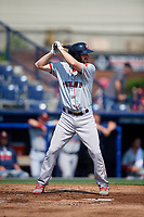 Portland Sea Dogs third baseman Jantzen Witte (22) at bat during the first game of a doubleheader against the Reading Fightin Phils on May 15, 2018 at FirstEnergy Stadium in Reading, Pennsylvania.  Portland defeated Reading 8-4.  (Mike Janes/Four Seam Images)