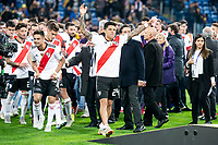 River Plate Gonzalo Martinez and Enzo Perez celebrating the victory during  Commebol Final Match between River Plate and Boca Juniors at Santiago Bernabeu Stadium in Madrid, Spain. December 09, 2018. (ALTERPHOTOS/Borja B.Hojas) /NortePhoto.com