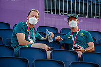 AUS-Kevin McNab watches Simone Pearce and Destano during the Dressage Grand Prix Team and Individual Qualifier Day 2 at the Equestrian Park. Tokyo 2020 Olympic Games. Sunday 25 July 2021. Copyright Photo: Libby Law Photography