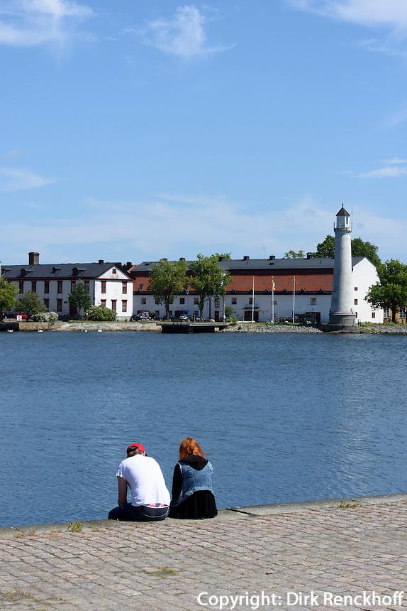 Blick vom Kungsbron auf Stumholmen, Karlskrona, Provinz Blekinge, Schweden, Europa, UNESCO-Weltkulturerbe<br /> Sturmholmen seen from Kungsbron in Karlskrona, Province Blekinge, Sweden
