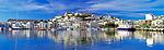 Spanien, Balearen, Ibiza (Eivissa): mit Altstadtbezirk Dalt Vila, Kathedrale und Hafen   Spain, Balearic Islands, Ibiza (Eivissa): with Old Town Dalt Vila, cathedral and harbour