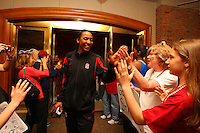 8 April 2008: Stanford Cardinal Candice Wiggins during Stanford's send off party before their 64-48 loss against the Tennessee Lady Volunteers in the 2008 NCAA Division I Women's Basketball Final Four championship game at the St. Pete Times Forum Arena in Tampa Bay, FL.