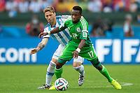 Ogenyi Onazi of Nigeria and Lucas Biglia of Argentina