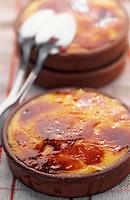 """Europe/France/Languedoc-Roussillon/66/Pyrénées-Orientales/Port-Vendres: crème Catalane, recette du restaurant """"La Côte Vermeille"""""""