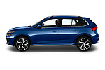 Car driver side profile view of a 2020 Skoda Kamiq Style 5 Door SUV