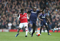 Arsenal's Bukayo Saka and West Ham United's Michail Antonio<br /> <br /> Photographer Rob Newell/CameraSport<br /> <br /> The Premier League - Arsenal v West Ham United - Saturday 7th March 2020 - The Emirates Stadium - London<br /> <br /> World Copyright © 2020 CameraSport. All rights reserved. 43 Linden Ave. Countesthorpe. Leicester. England. LE8 5PG - Tel: +44 (0) 116 277 4147 - admin@camerasport.com - www.camerasport.com